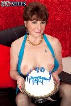 Bea's 70th birthday surprise: two jocks for her gazoo!