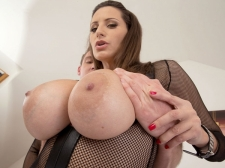 A Jism Injection For A 34DDD Brunette